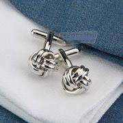 New Silver CLR Knot Mens Dress Wedding Cufflinks Cuff Links Noble Posted Vogue