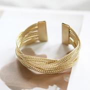 Simple Stylish Alloy Twist Weaving Bangle Bracelet