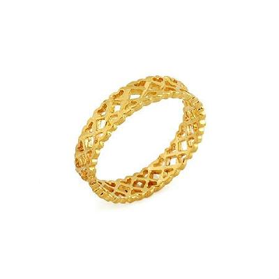 18K GP Yellow Gold Ring, Size 5.